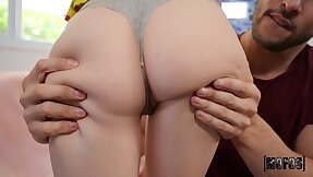 Guy loves Remi Jones' hot ass and her amazing bald kitty